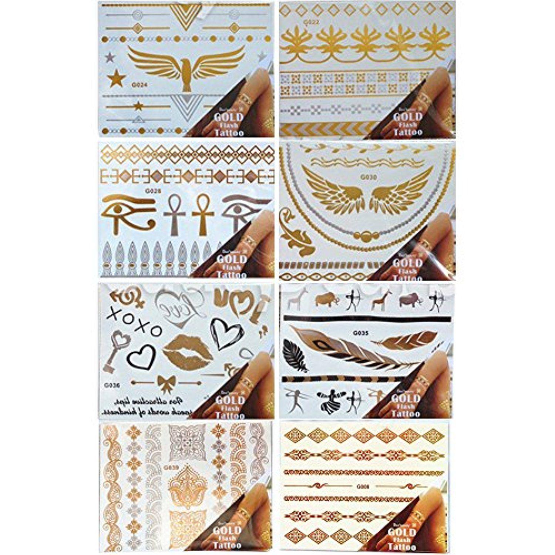 Miss flora golden body paint women temporary fake tattoos henna