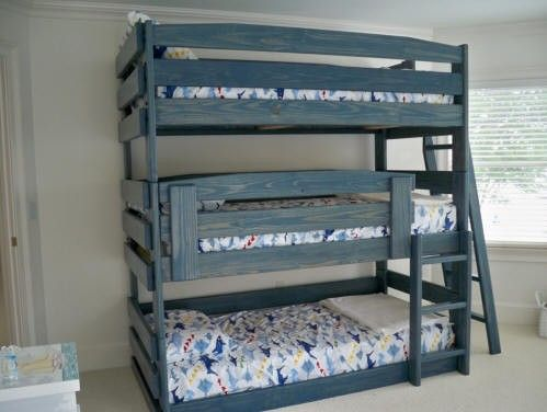 Space Bunk Beds triple bunk beds best space saving beds for 3 kids in a room