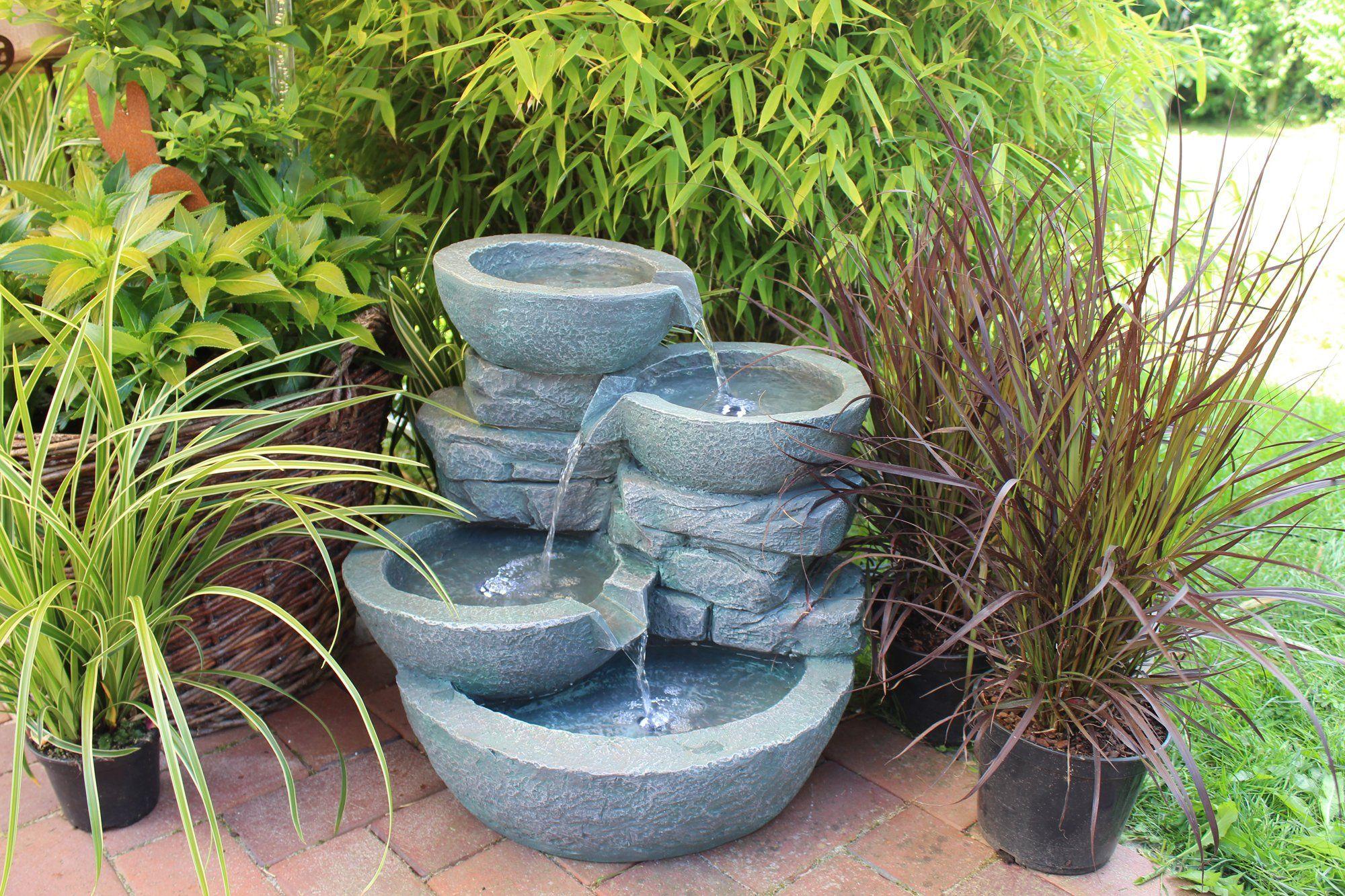 Springbrunnen Cascades Mit Led Beleuchtung Gartenbrunnen Zimmerbrunnen Amazon De Garten Gartenbrunnen Zimmerbrunnen Garten