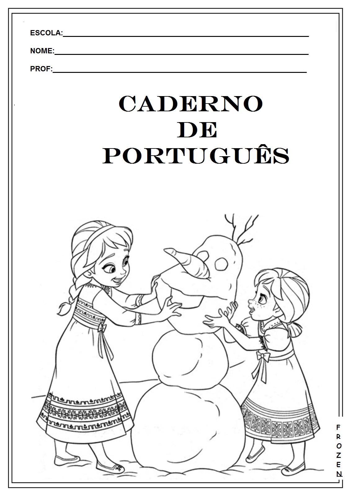 Famosos Rosearts- Atividades para imprimir: ABERTURA DE CADERNO PORTUGUÊS  YN55