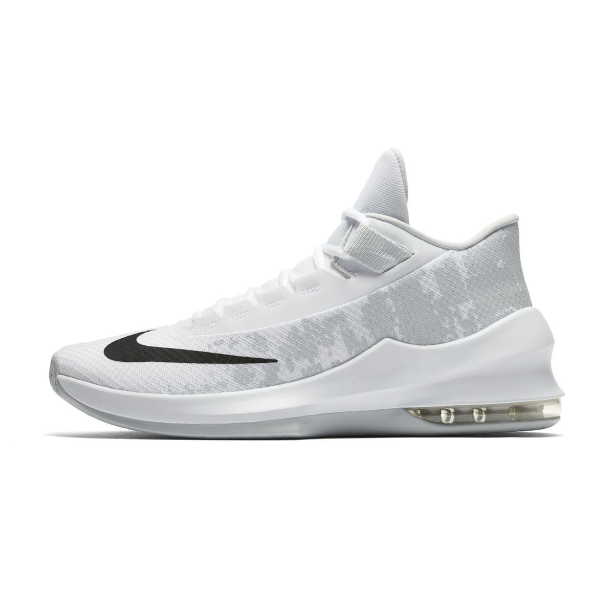 Chaussures Basketball Nike Air Max Infuriate 2 Mid Blanc