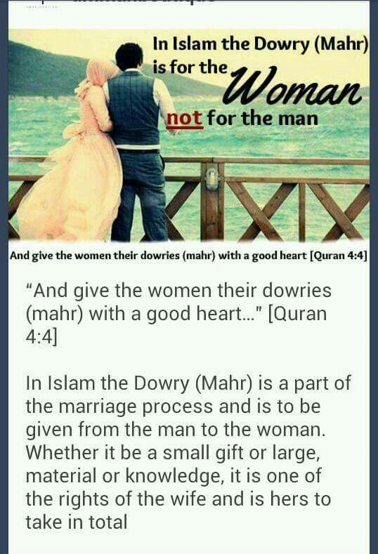 Dowry in Islaam Wonder quotes, Islamic quotes, Good heart