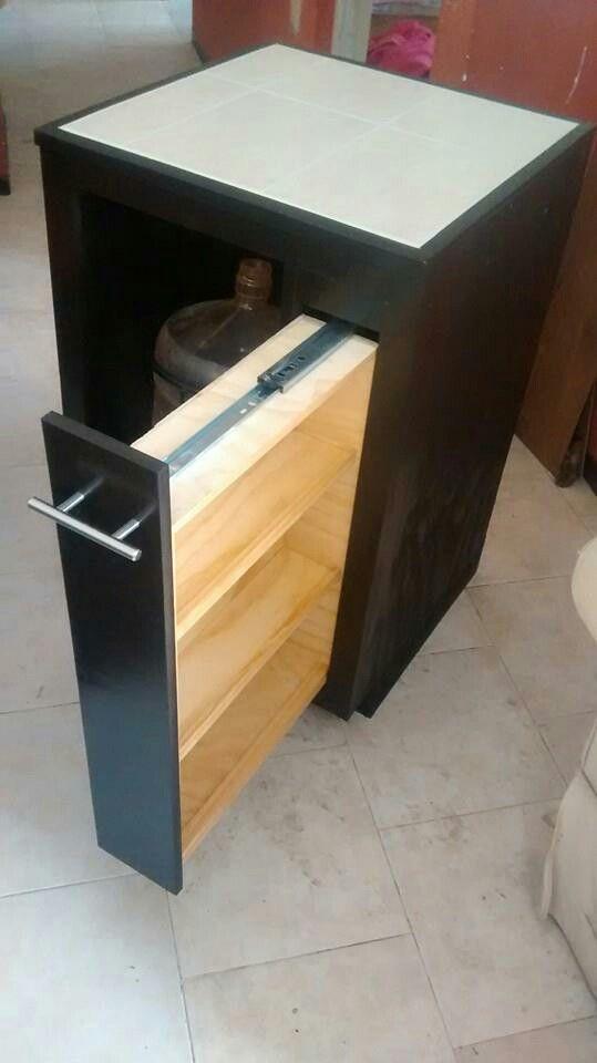 Mueble para garrafón de agua con cajón especiero vertical ...
