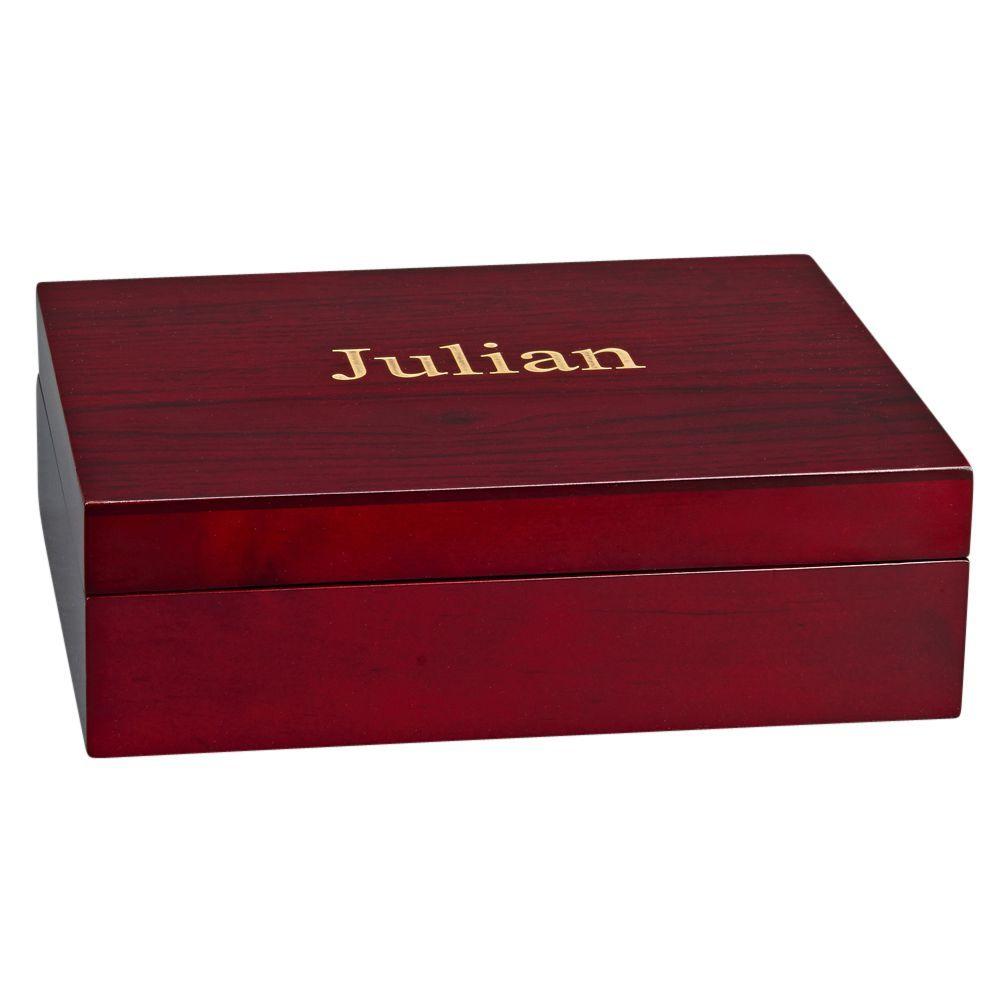 Julian Style Rosewood Finished Wood Box Wood Keepsake Box Keepsake Boxes Groomsmen Gifts Golf