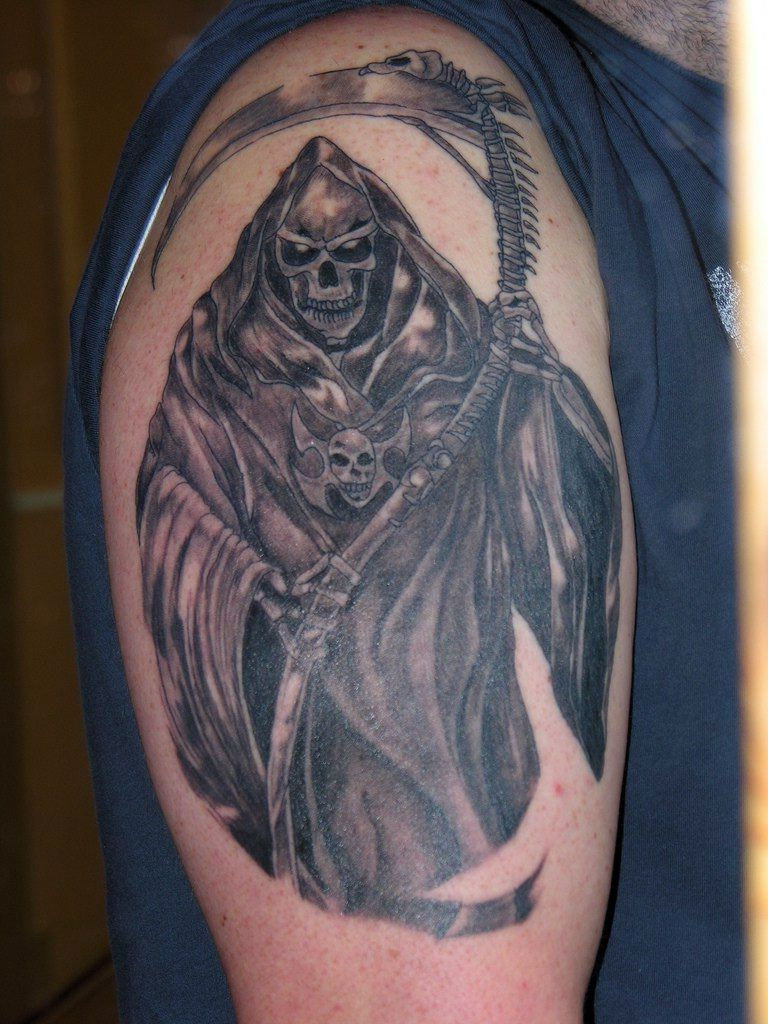 death tattoo designs for men - photo #12