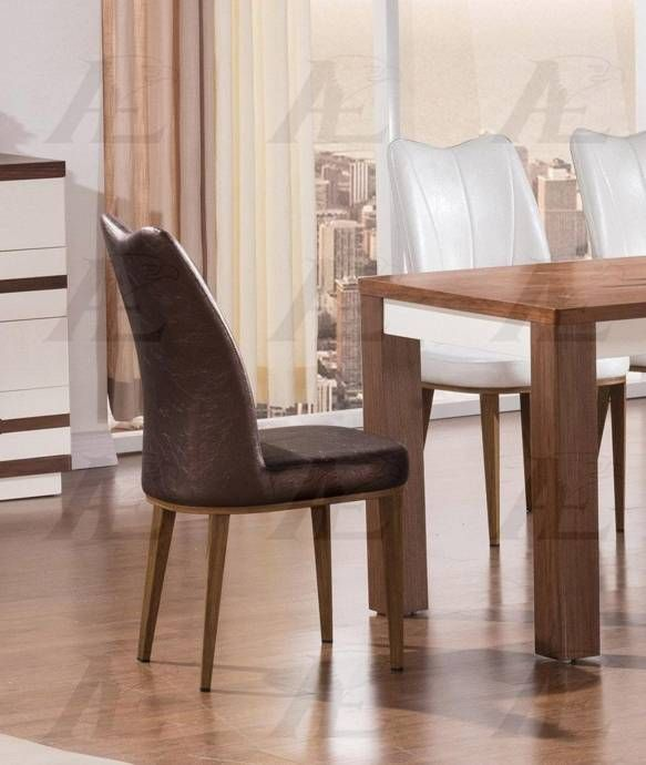 American Eagle Furniture Ck D519 Db Dark Brown Pu Dining: American Eagle Furniture DT-D519 Brown And Ivory Wood