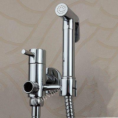 Square Brass Bidet  hand shower head sprayer Faucet Toilet Spray Shattaf W//Hose