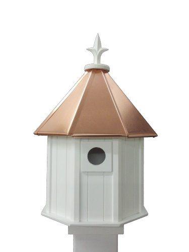Octagon Bird House Song Bird Cellular PVC Copper Roof NC Birdguy http://www.amazon.com/dp/B00KKY7HPC/ref=cm_sw_r_pi_dp_FCKKtb1TPVD30RN9