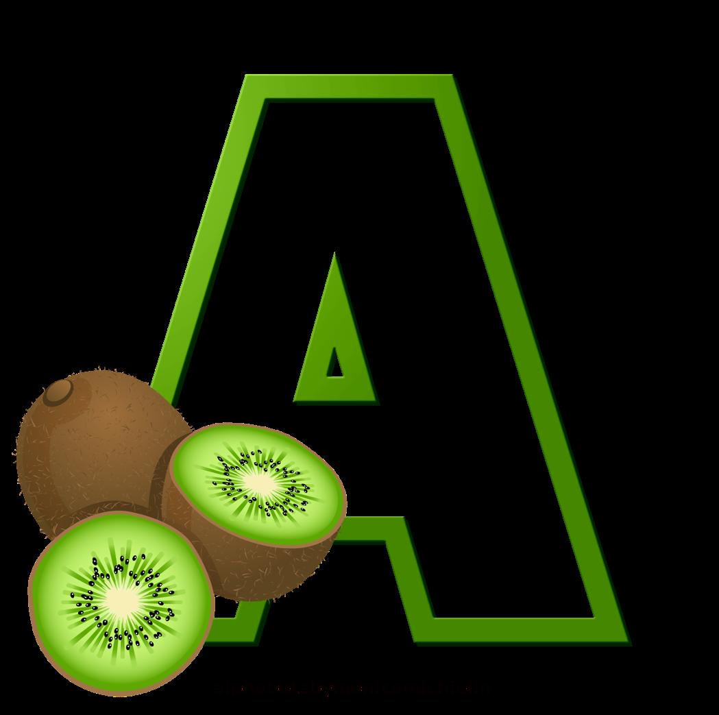 KIWI FRUIT ALPHABET, ALFABETO KIWI FRUTA in 2020 Kiwi