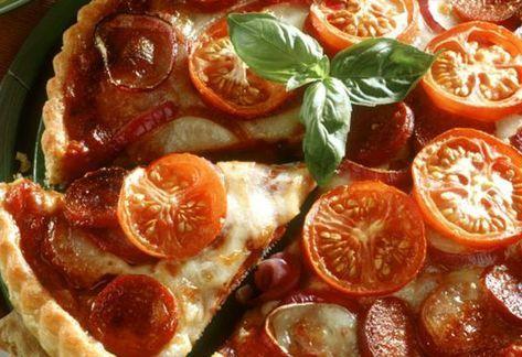 Tarte aux Tomates et Chorizo WW – Plat et Recette – ww –