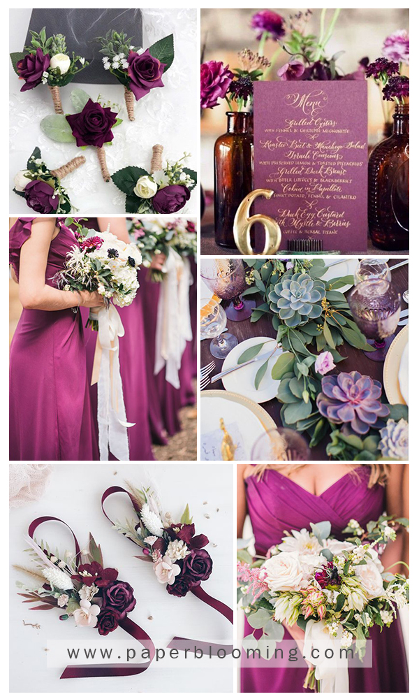 Mulberry Gold Perfect Wedding Color Combo To Love Paperblooming Purple Wedding Invitations Purple And Gold Wedding Plum Wedding