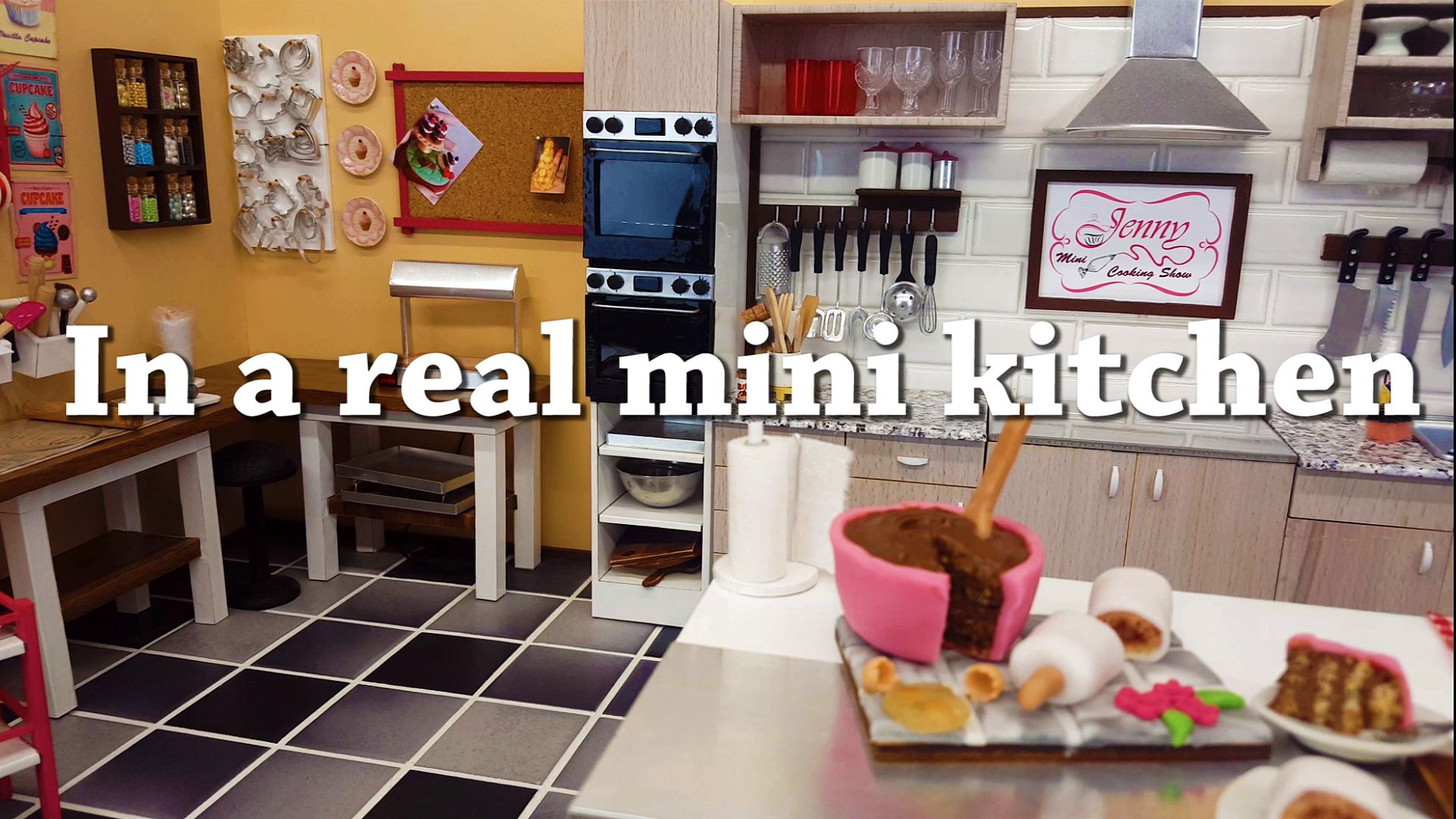 Jenny S Mini Cooking On Youtube And Baking Preparation Of The Kitchen Took 6 Months Oven T Kids Toy Tiny Real
