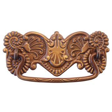 Vintage Cast Brass Furniture Bail  Pull Handle Drawer Dresser Victorian Antique