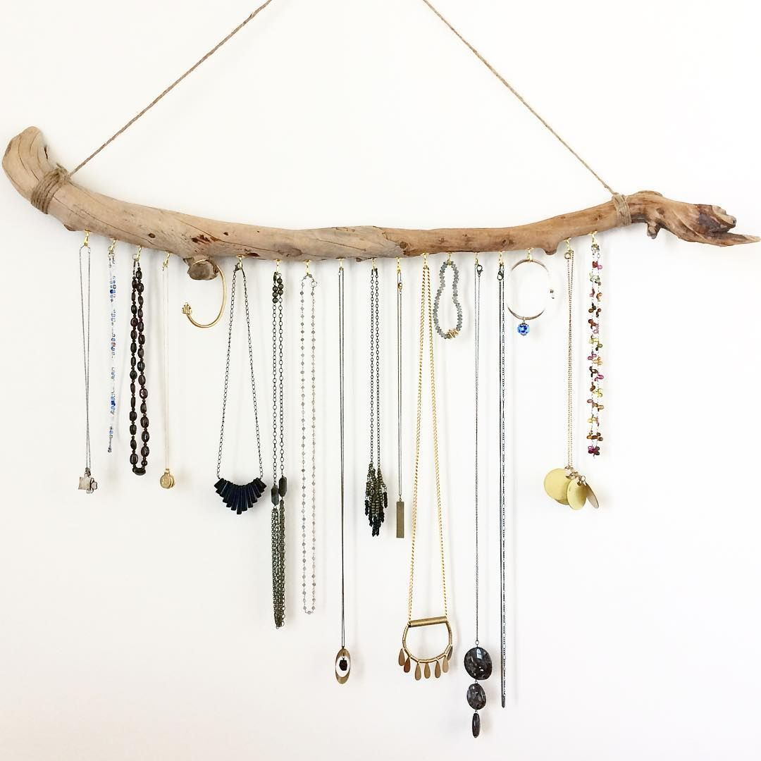 ordinary Driftwood Jewelry Holder Part - 18: Sometimes, while cleaning the house I get distracted and make a driftwood  jewelry holder instead 🙌🏼☺ #easilydistracted
