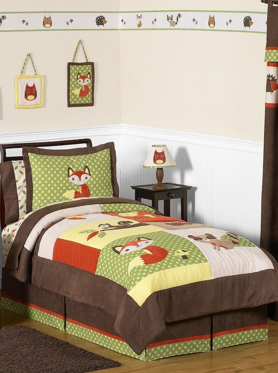 forest animals woodland boys childrens and kids bedding - twin 4