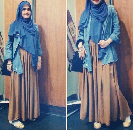 Syar I Style Stylish Dengan Padu Padan Hijab Ala Ola Aswandi
