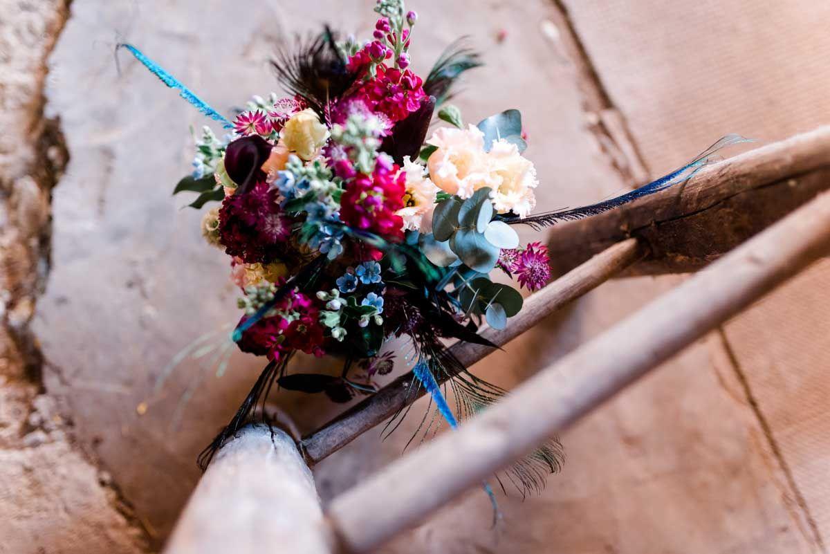 Brautstrauss Pfauenfeder Brautstrauss Blumenstrauss Hochzeit Strauss