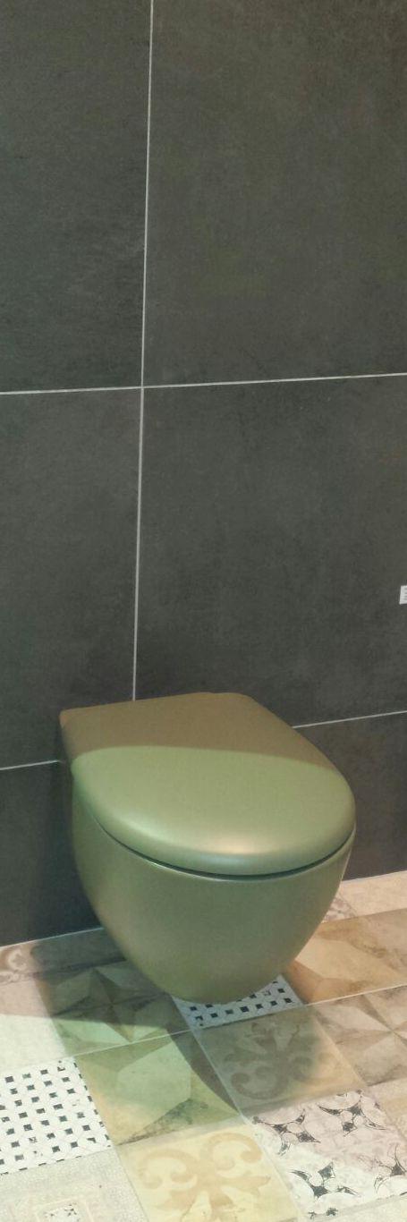 Heeft u een oude badkamer met groen sanitair? Dan heeft u geluk! Groen sanitair komt namelijk weer helemaal terug. Dus nog even en uw badkamer is weer helemaal in de mode. Groene toiletpotten, groene wastafels: het kan allemaal! Deze groene toiletpot in een modern jasje.