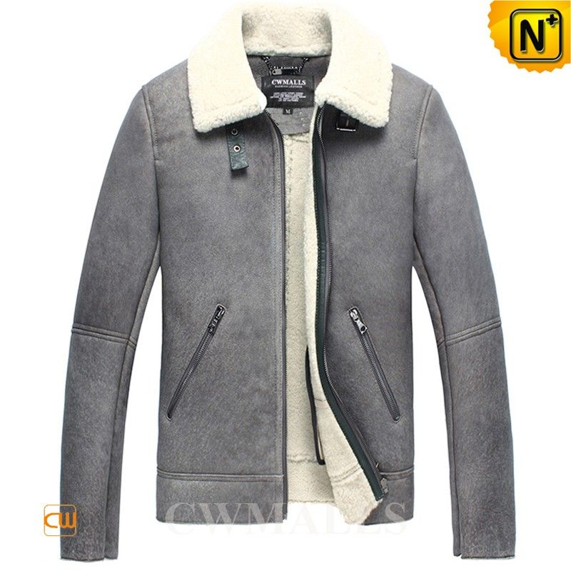 Distressed Shearling Sheepskin Biker Jacket CW858330 Fitted distressed sheepskin jacket for men crafted from imported natural sheepskin with supple plush fur shearling material, designer grey shearling biker jacket featuring with buckled strap on shearling collar,zip closure, zip side pockets. www.cwmalls.com PayPal Available (Price: $1457.89) Email:sales@cwmalls.com