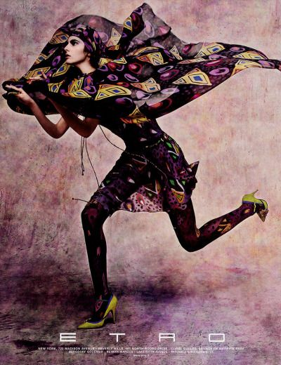 "felixinclusis:  "" edithshead: model Emina Cunmulaj photographer unknown for Etro, 2004  """