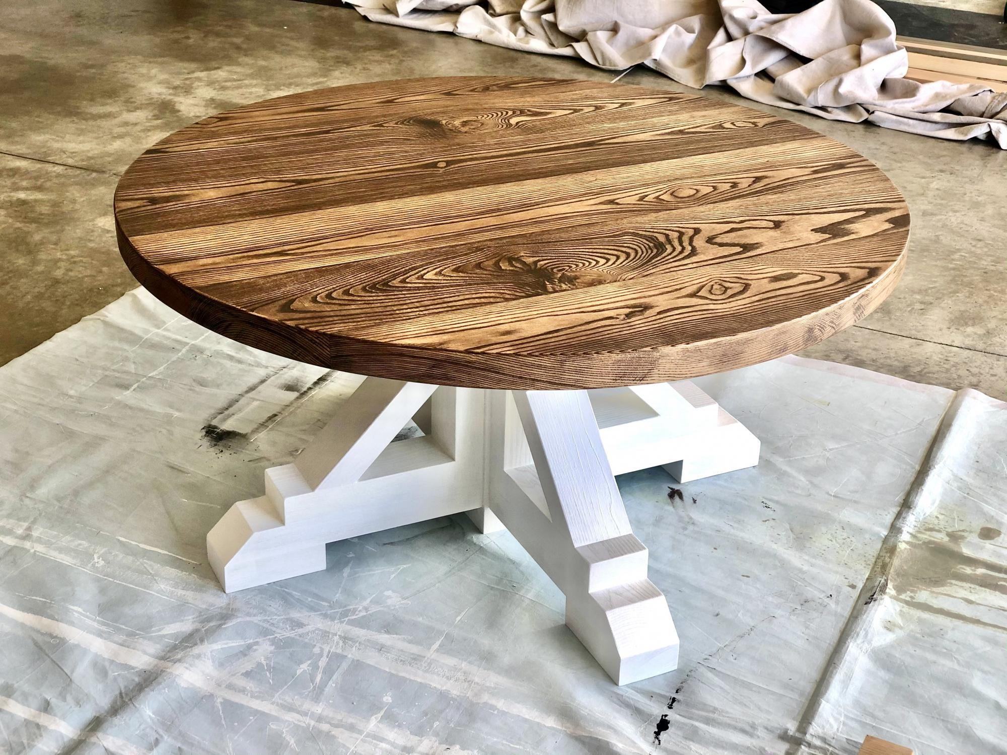 Round Farmhouse Coffee Table Ana White Coffee Table Farmhouse Diy Farmhouse Coffee Table Round Farmhouse Table [ 1500 x 2000 Pixel ]