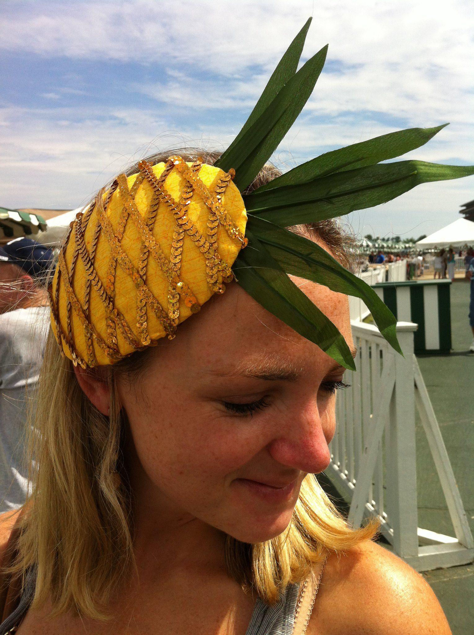 Pineapple fascinator made by Sarah  e2b0b703a8c