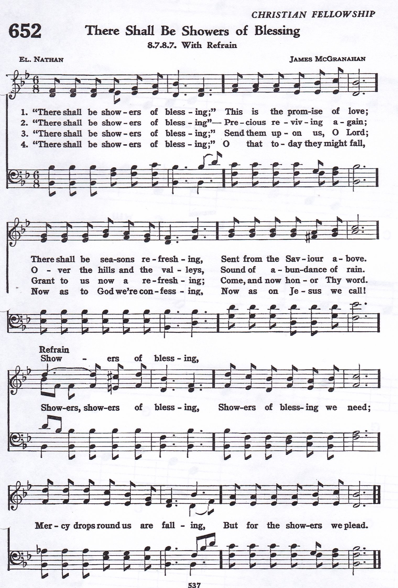 There Shall Be Showers of Blessing (Hymn) SATB | Hymns in 2019
