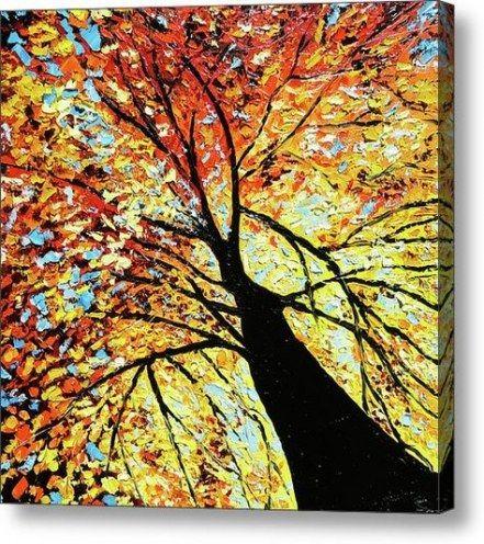 Fall tree painting acrylic 53 Ideas #falltrees
