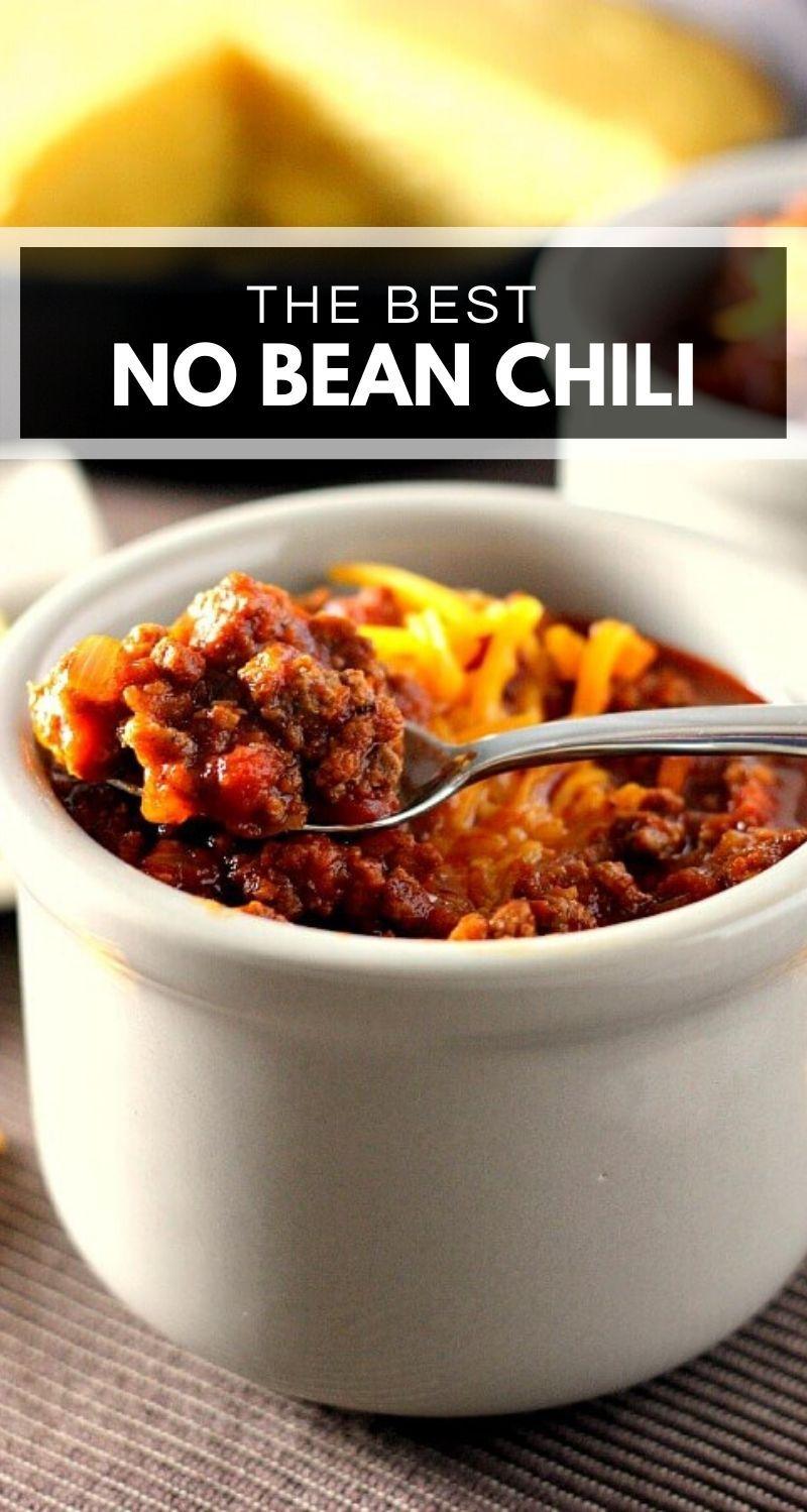 Slow Cooker No Bean Chili No Bean Chili Crockpot Recipes Slow Cooker Chili Recipe Crockpot