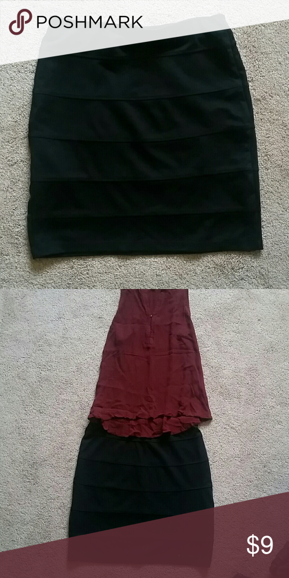 Sexy black mini skirt Tight form fitting black skirt  great condition but not Charlotte Russe tagged for exposure Charlotte Russe Skirts Mini