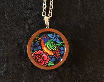 Love bird pendant is the perfect gift for your bird and nature lover love bird pendant is the perfect gift for your bird and nature lover all pendants are mini wearable prints of paintings made by nj artist jennifer aloadofball Images