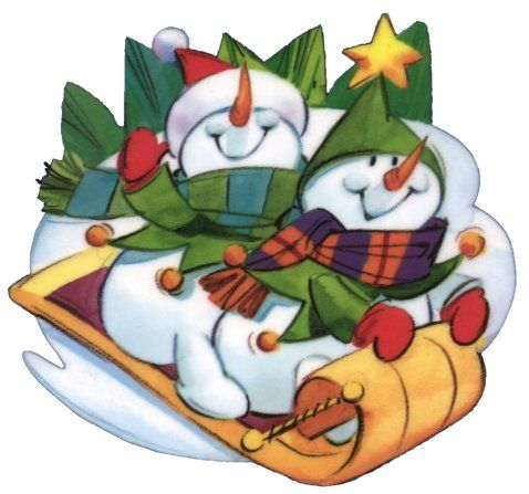 #snowman #winter #christmas #graphics #sled