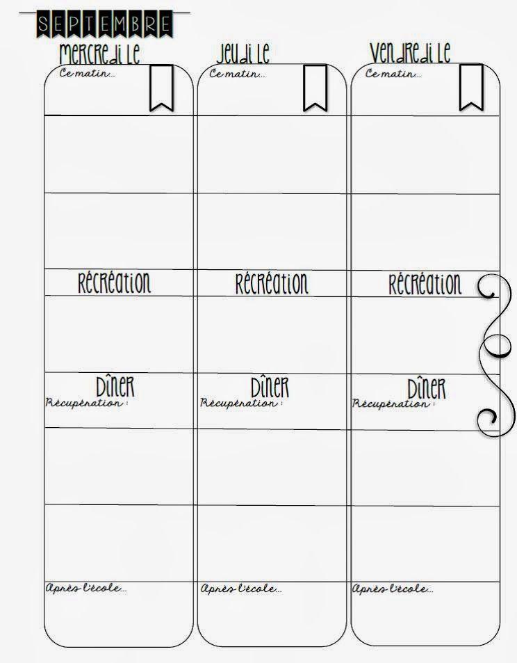 journal de planification ann e scolaire 2016 2017 pinterest journaux intimes. Black Bedroom Furniture Sets. Home Design Ideas