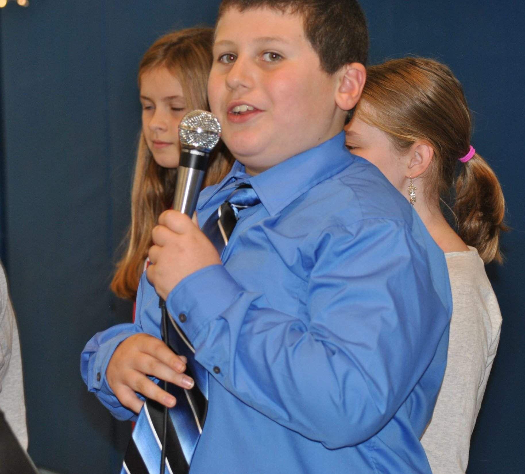 Sam Fish, a fifth-grader at North Londonderry Elementary ...