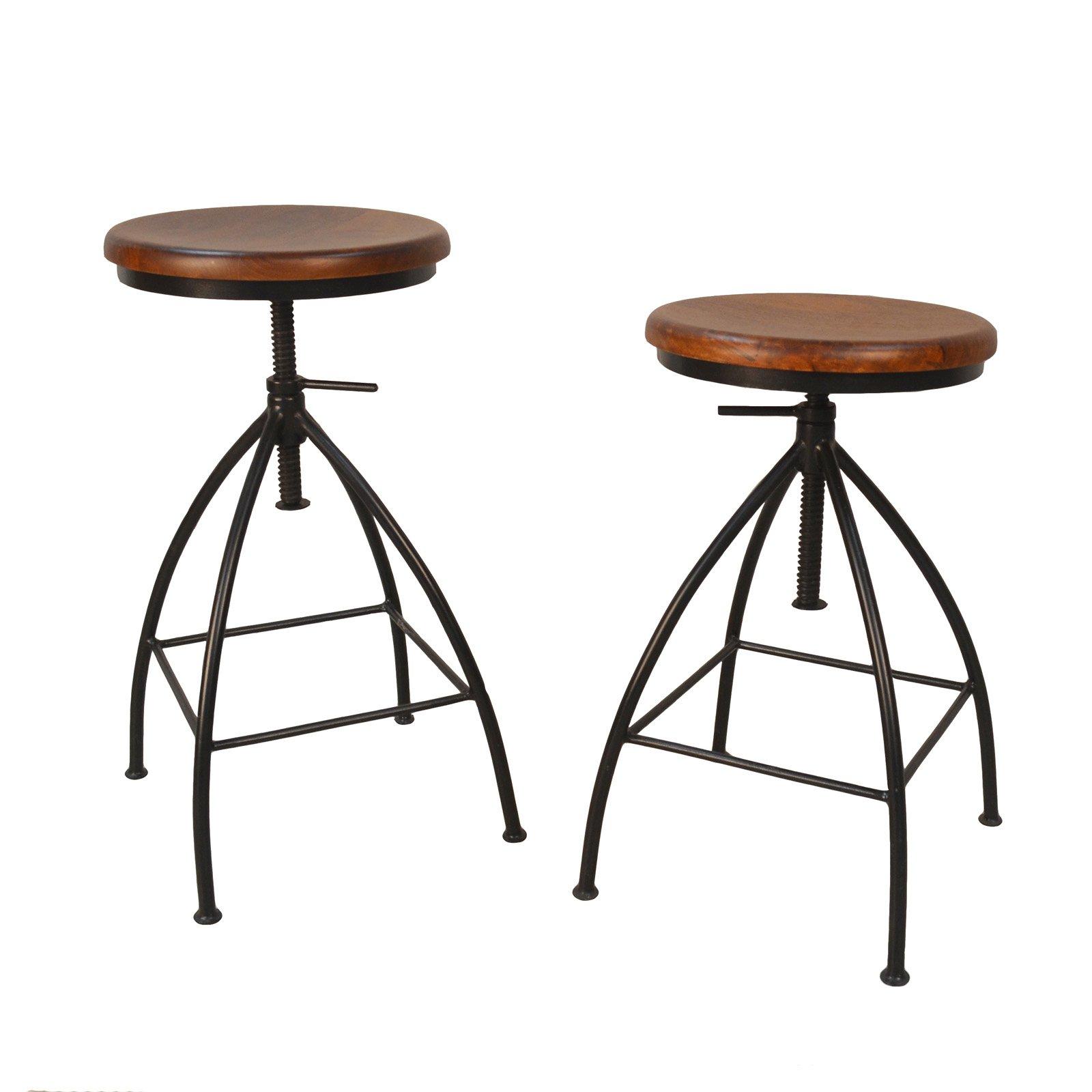 Enjoyable Carolina Chair Table Co Ian Adjustable Bar Stool Set Of Caraccident5 Cool Chair Designs And Ideas Caraccident5Info