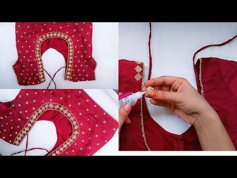 2c5d4feb6c Hand embroidery designs .Aari style embroidery for ghagras, dresses, sarees  and blouses. - YouTube