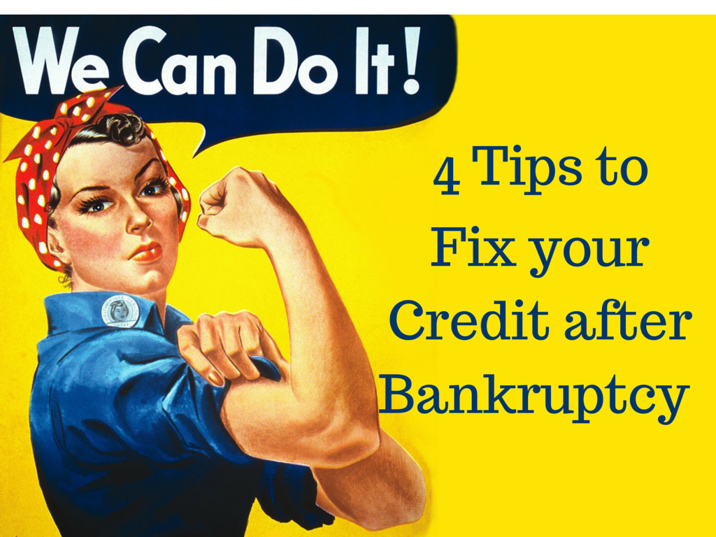 4 credit scores bankruptcy tips. The day after bankruptcy