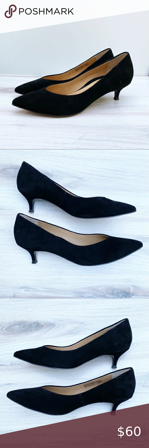 Vionic Josie Pointed Toe Suede Leather Pumps In 2020 Leather Pumps Suede Leather Shoes Women Heels