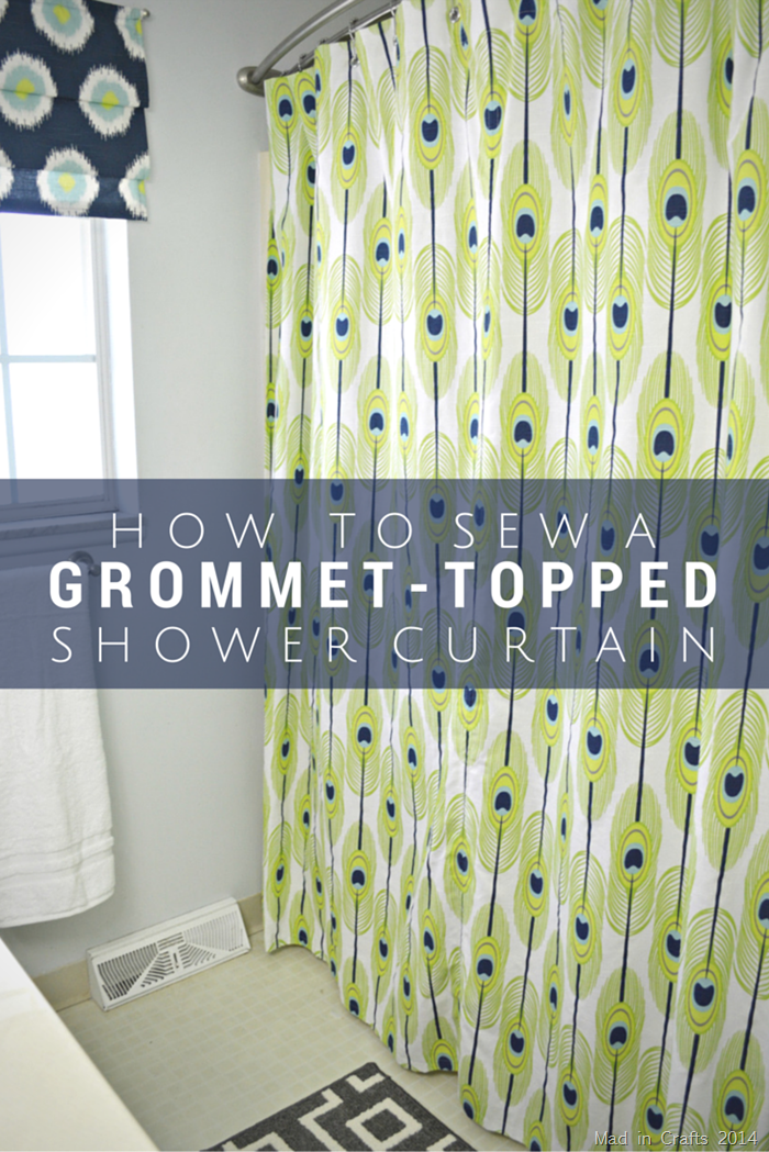 Make A Grommet Topped Shower Curtain Diy Shower Curtain Diy Bathroom Makeover Diy Home Decor Projects