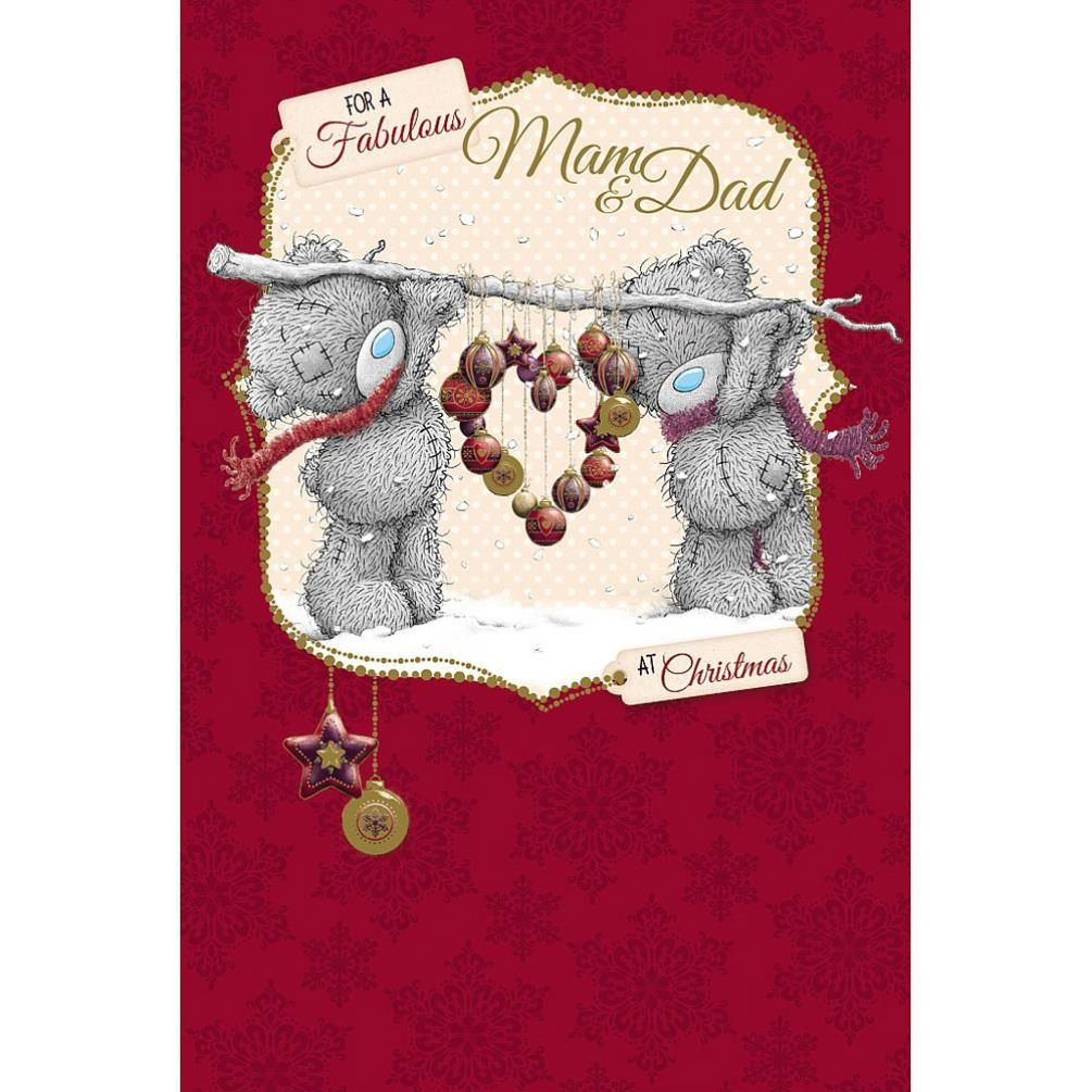 Mam And Dad Me to You Bear Christmas Card  £3.59