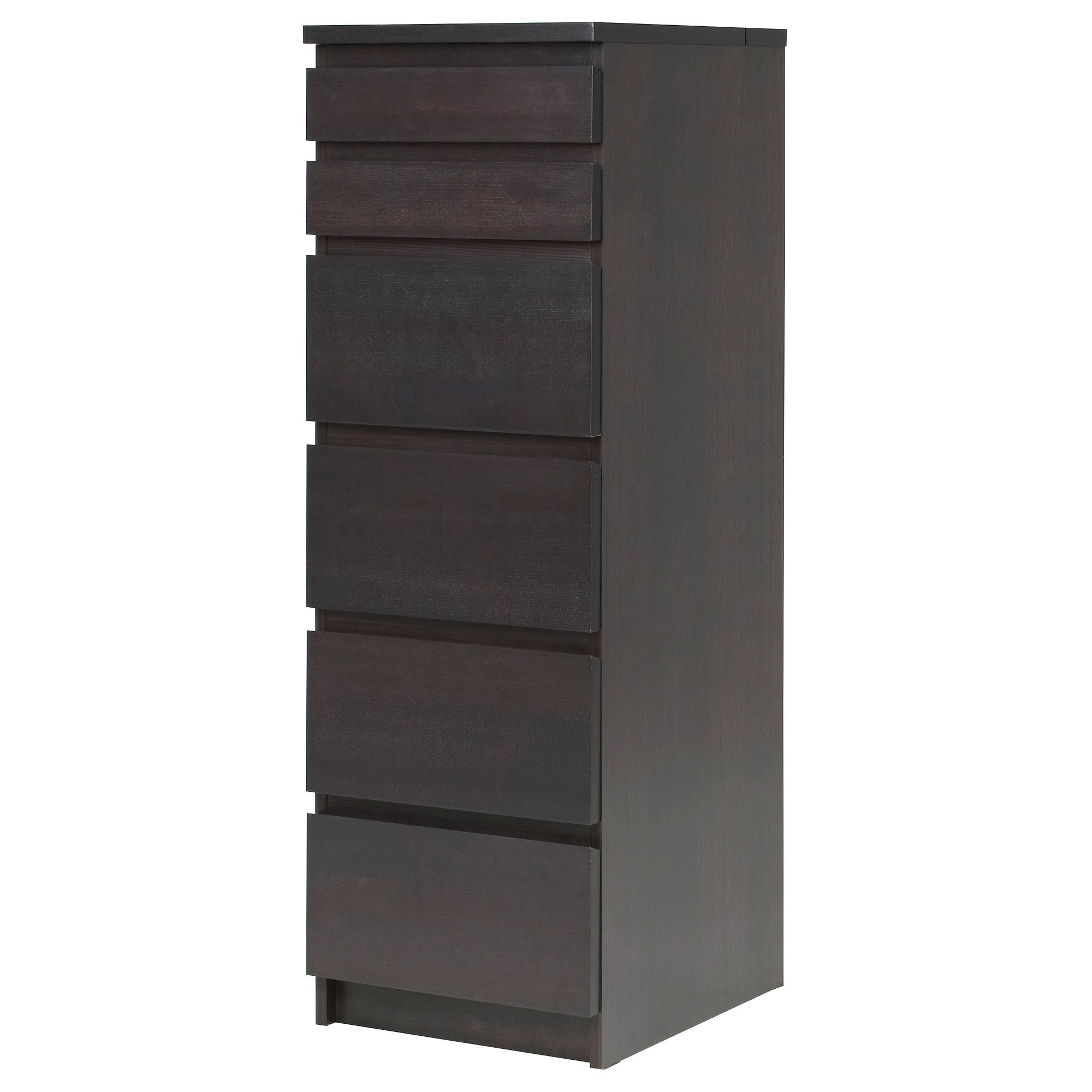 MALM Chest of 6 drawers   black brown mirror glass   IKEA. For bedside chests   MALM Chest of 6 drawers   white stained oak