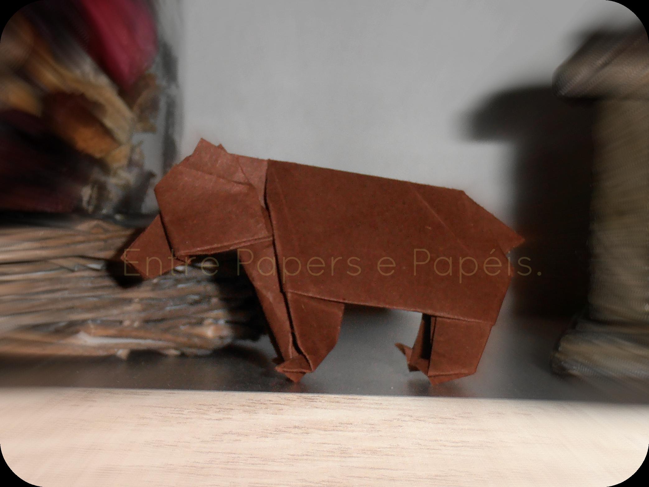 Bear/Urso (John Montroll, folded by me/dobrado por mim)