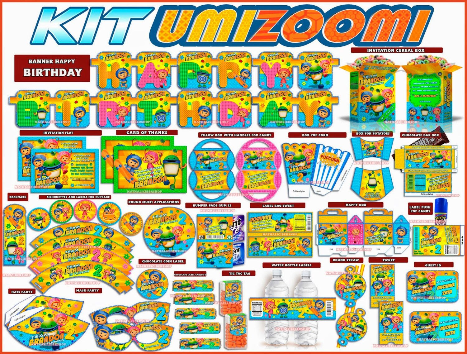 Team Umizoomi Party Complete Party Printables