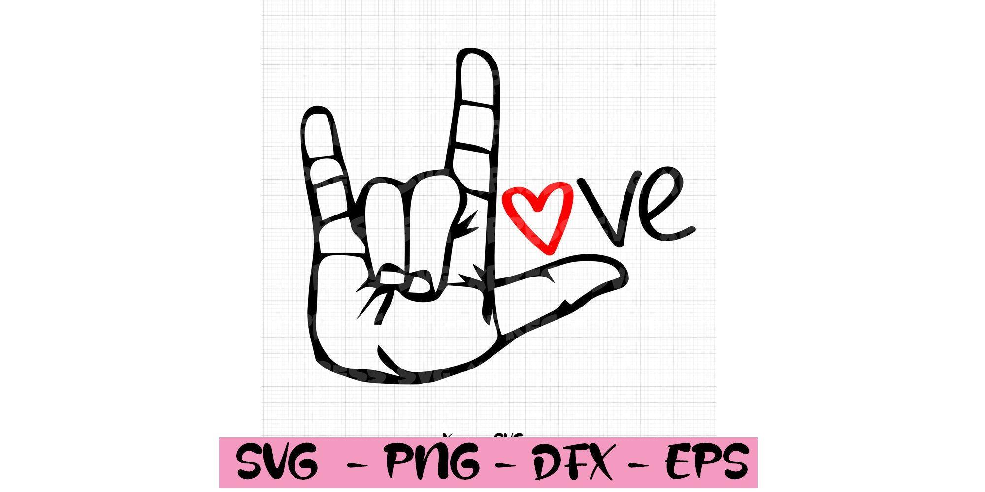 I Love You Hand Sign Language Asl Love Valentine S Day Etsy In 2020 Hand Sign Language Love Valentines My Love