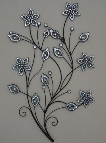 Flower Metal Wall Art stunning-large-metal-flower-wall-art (351×473) | metal flowers