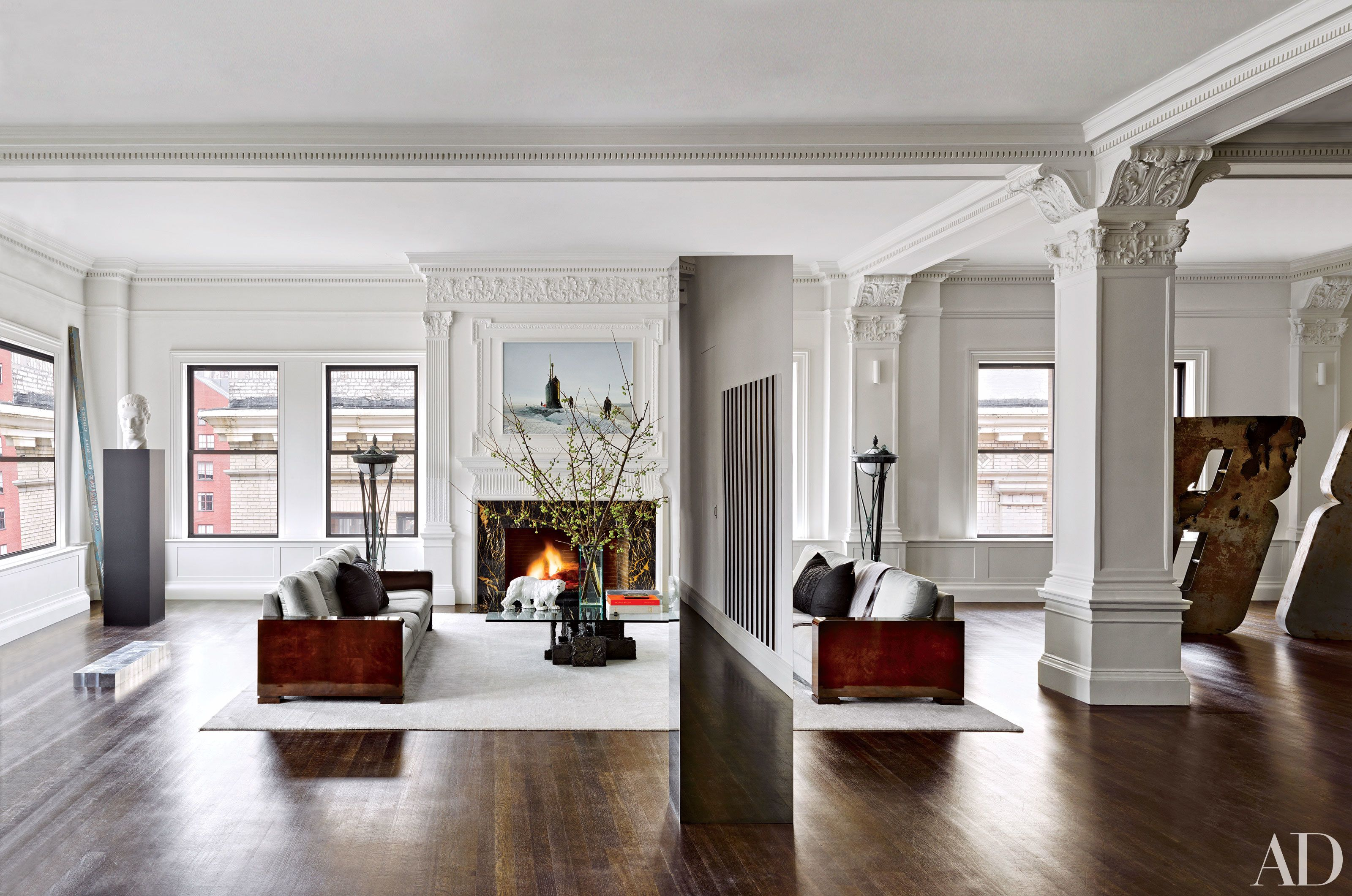 28 Living Rooms With Cozy Fireplaces - Architectural Digest
