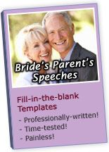 Your Quick Source For Eloquent Mother And Father Of The Bride Speeches Toasts Wedding Receptions Rehearsal Dinners