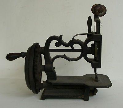 Cast Iron Hand Crank Sewing Machine; 1870's