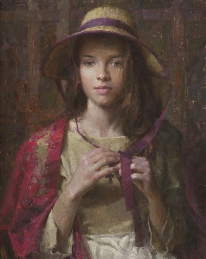 Painting of a young girl by Morgan Weistling, Artist (my daughter was the model for this painting in 2005--PH)