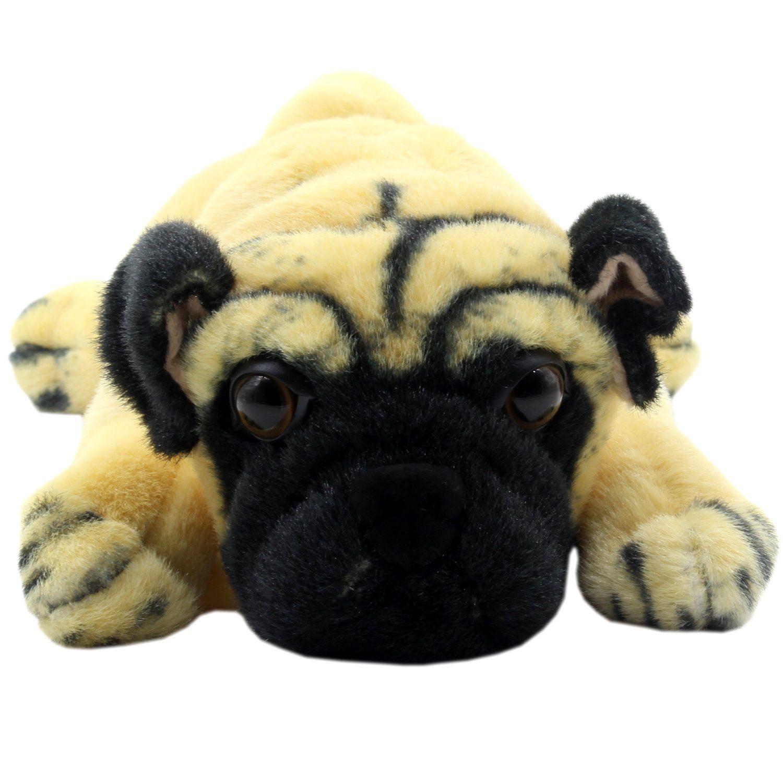 Tagln Stuffed Animals Groveling Pug Dog Toys Plush 14 Inch For